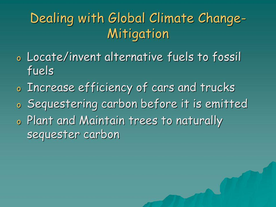 Dealing with Global Climate Change- Mitigation