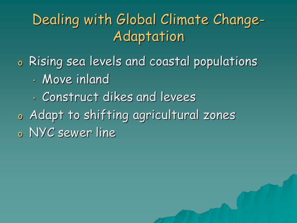 Dealing with Global Climate Change- Adaptation