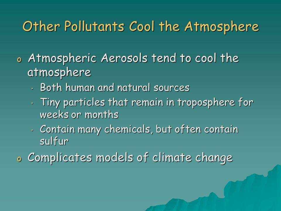 Other Pollutants Cool the Atmosphere