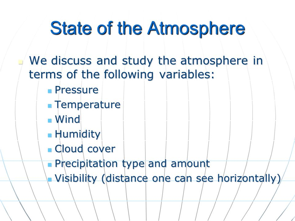 State of the Atmosphere