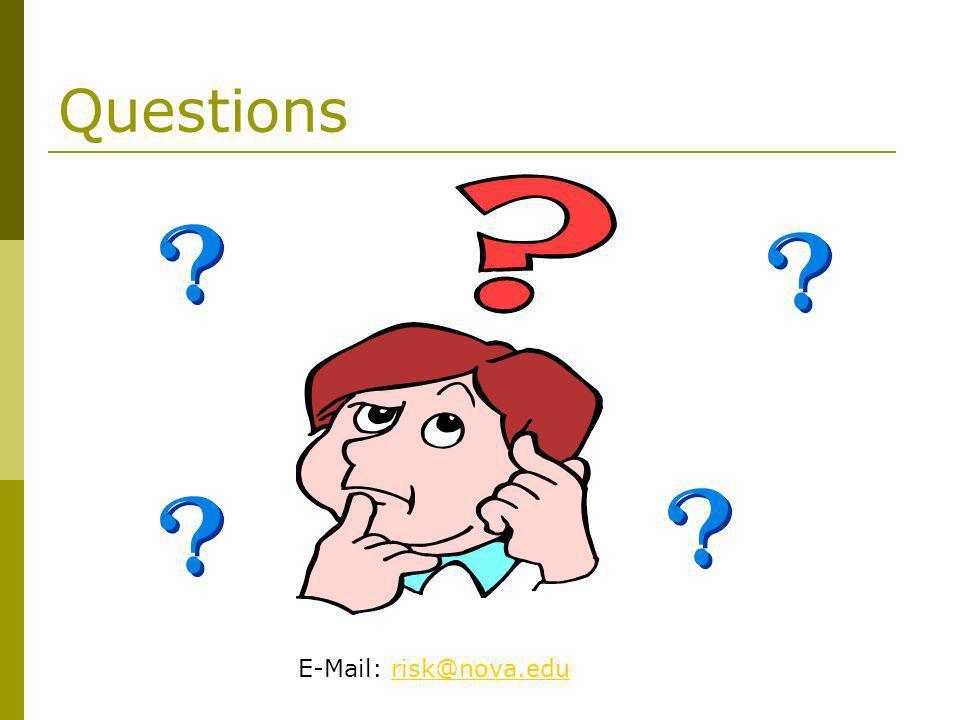 Questions E-Mail: risk@nova.edu