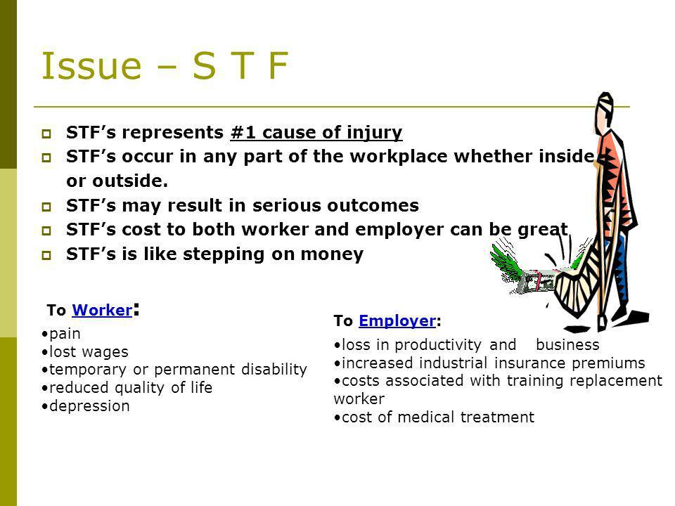 Issue – S T F STF's represents #1 cause of injury