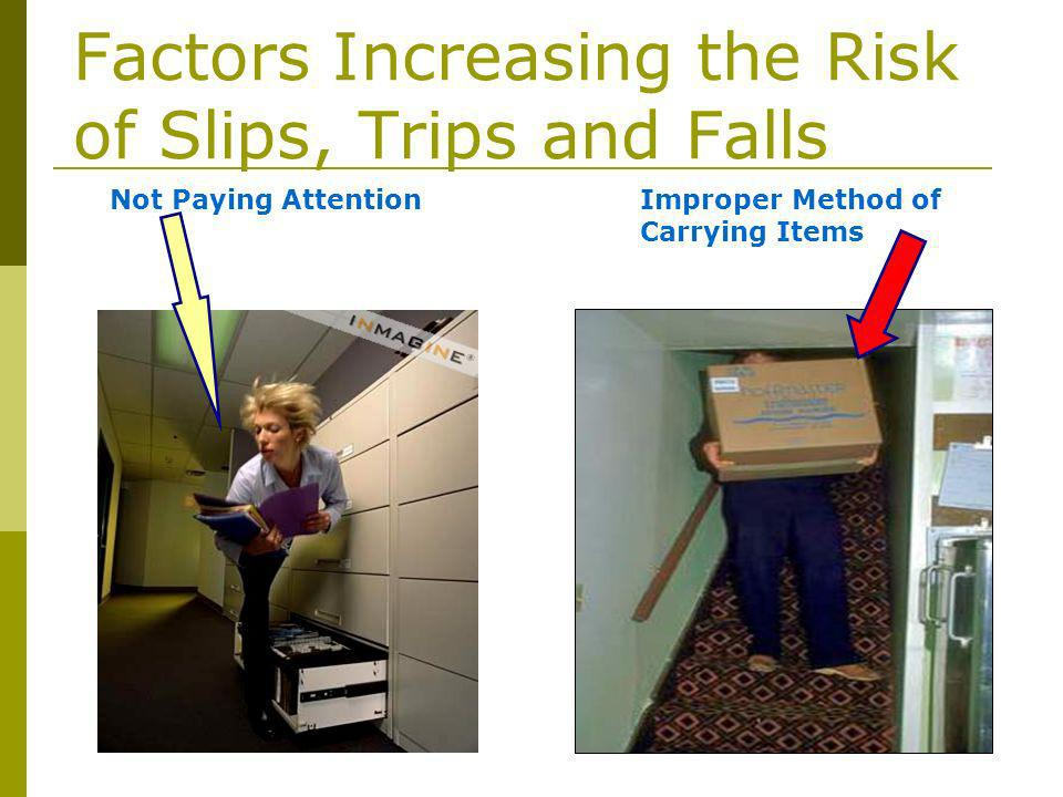 Factors Increasing the Risk of Slips, Trips and Falls