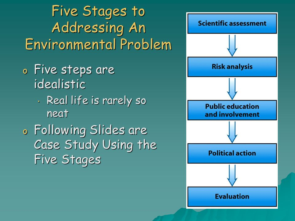 Five Stages to Addressing An Environmental Problem