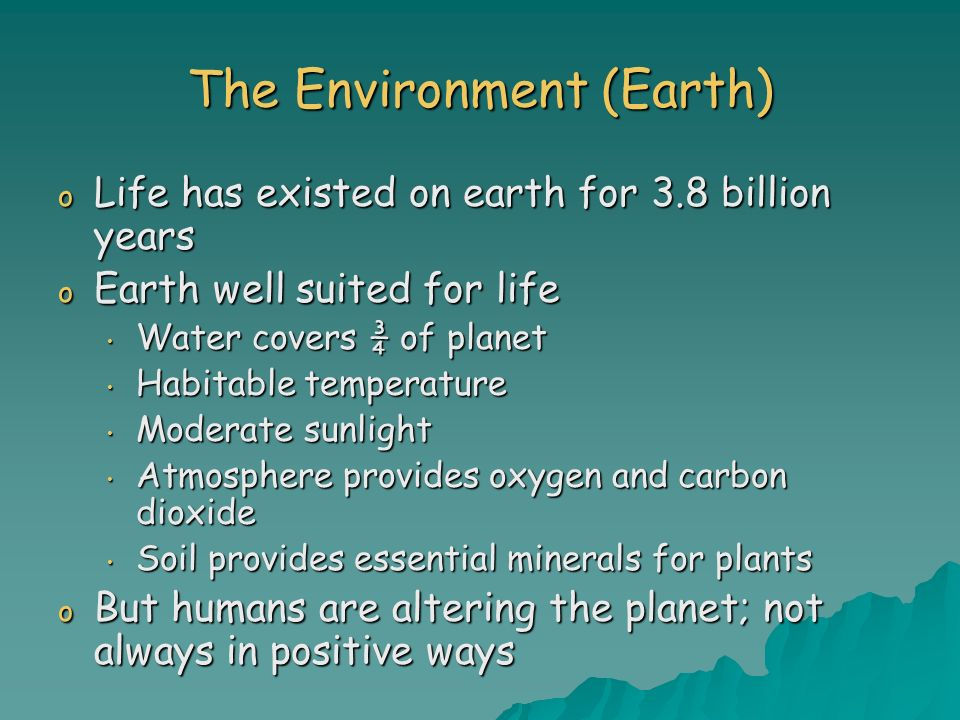 The Environment (Earth)