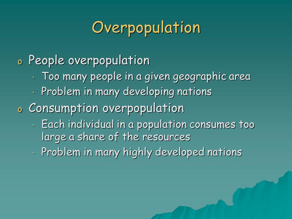 Overpopulation People overpopulation Consumption overpopulation