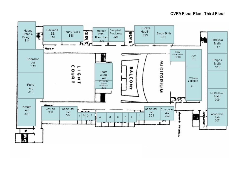 CVPA Floor Plan--Third Floor