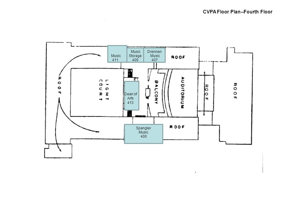 CVPA Floor Plan--Fourth Floor