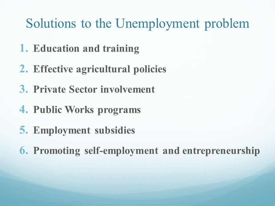 unemployment in effective education On 9–10 june 1998, the bank and the centre for economic policy research, australian national university convened a conference entitled 'unemployment and the.