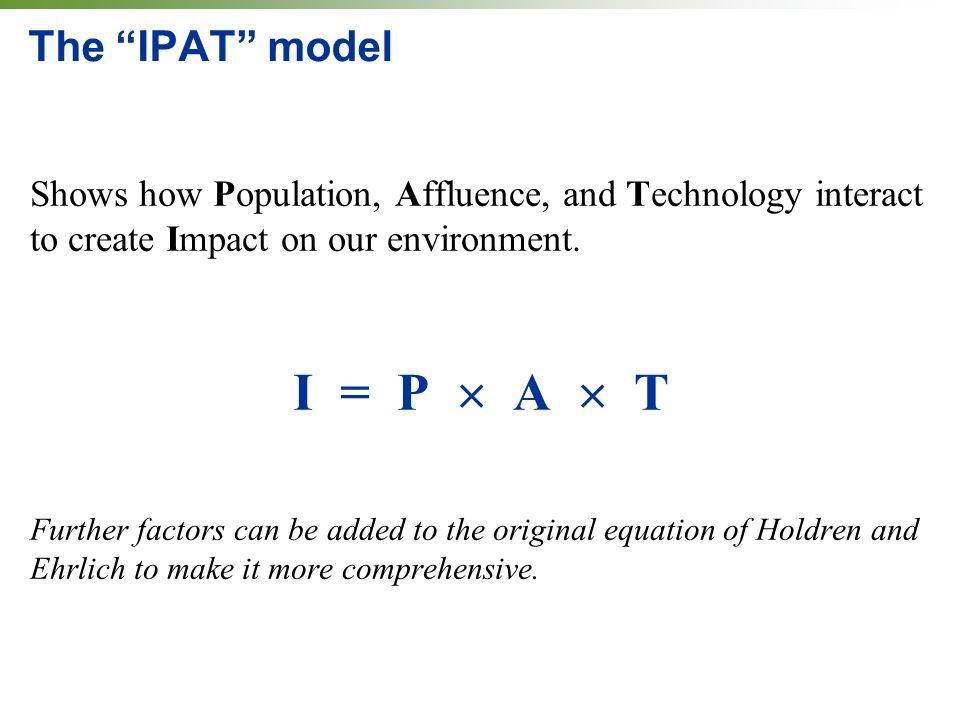 I = P  A  T The IPAT model