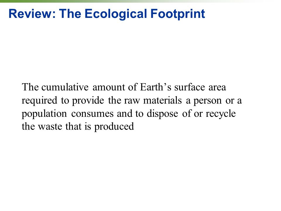 Review: The Ecological Footprint