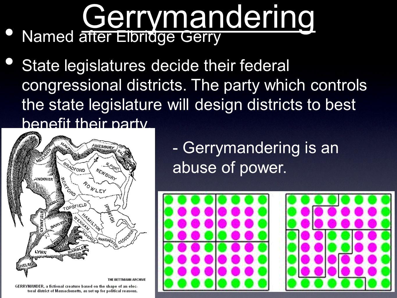 Gerrymandering Named after Elbridge Gerry
