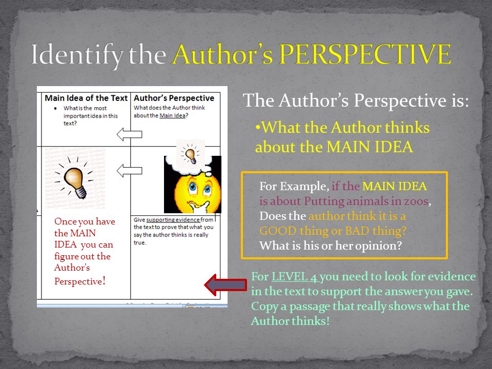 Identify the Author's PERSPECTIVE