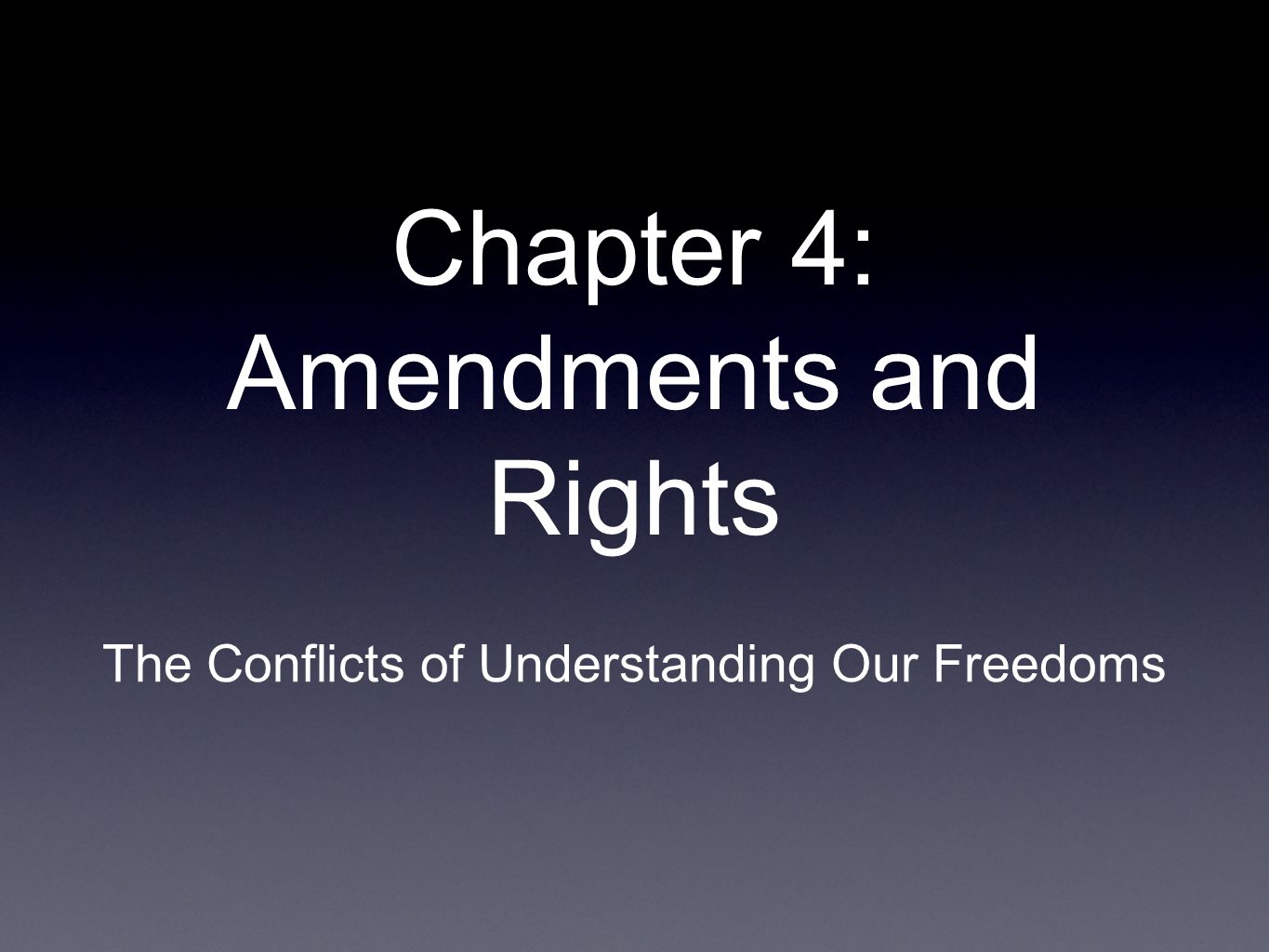 Chapter 4: Amendments and Rights