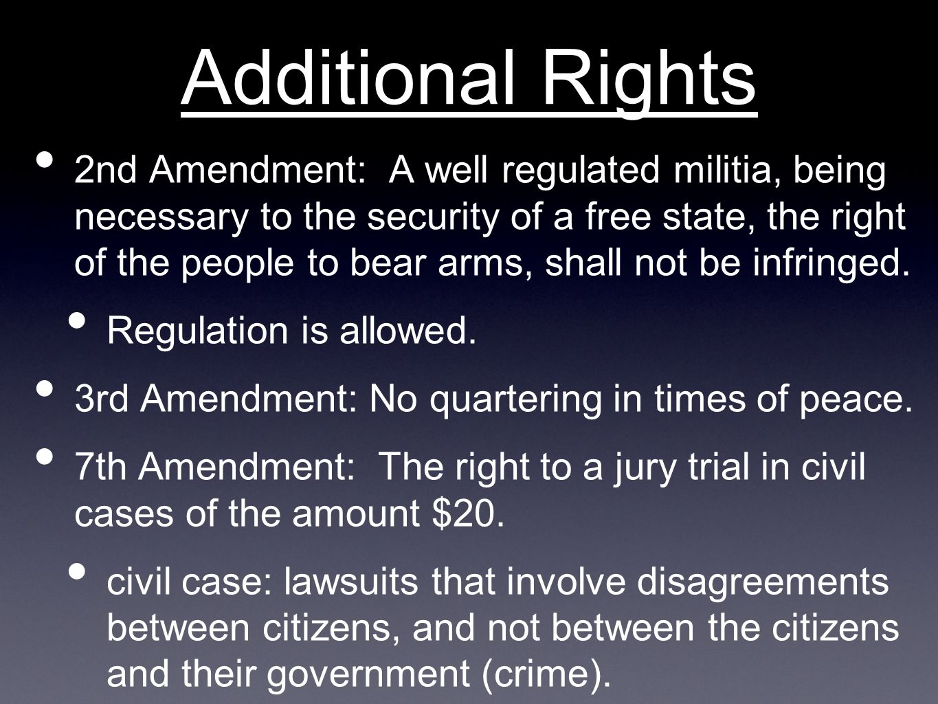Additional Rights