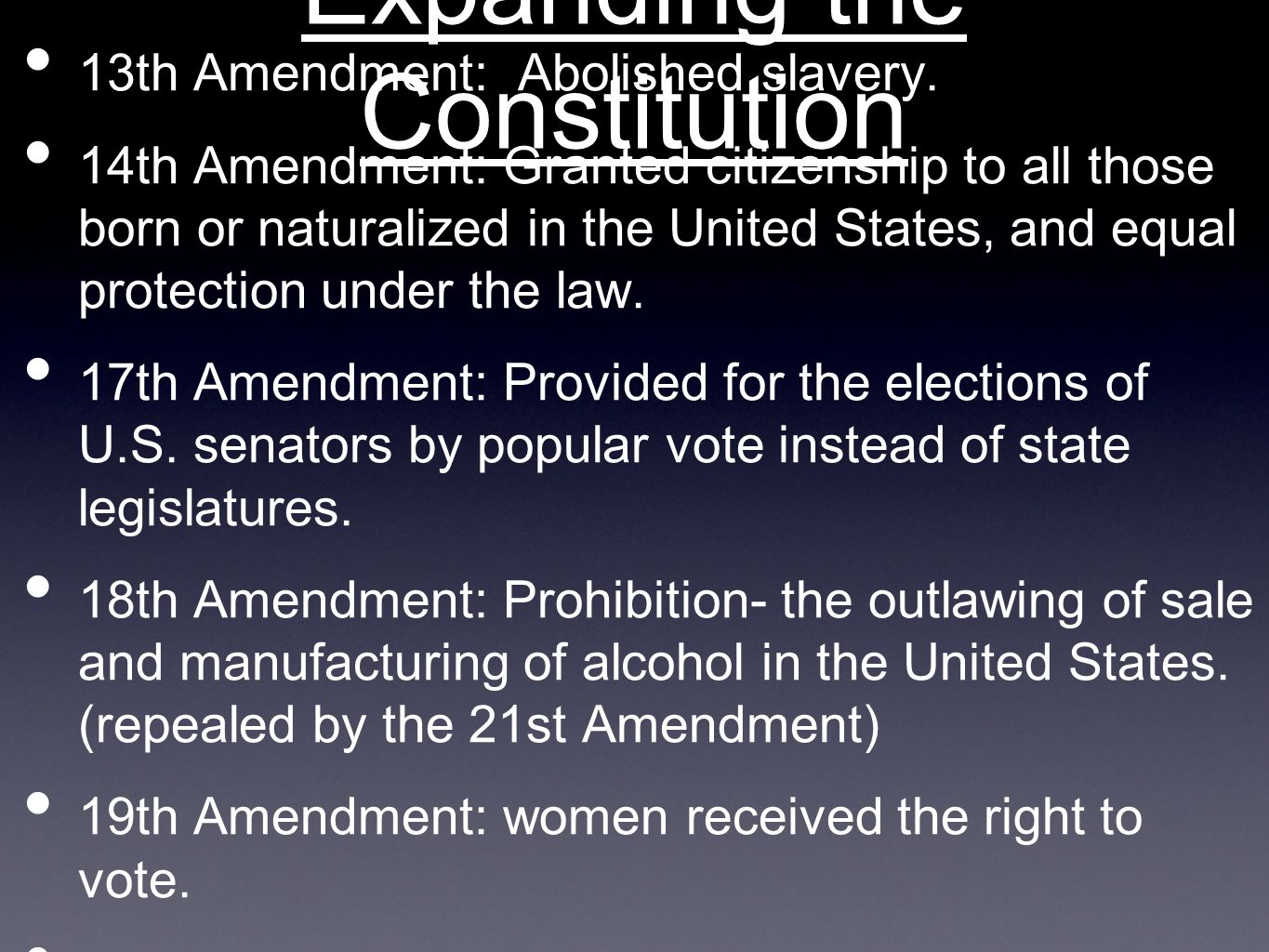 Chapter 4: Amendments and Rights - ppt video online download