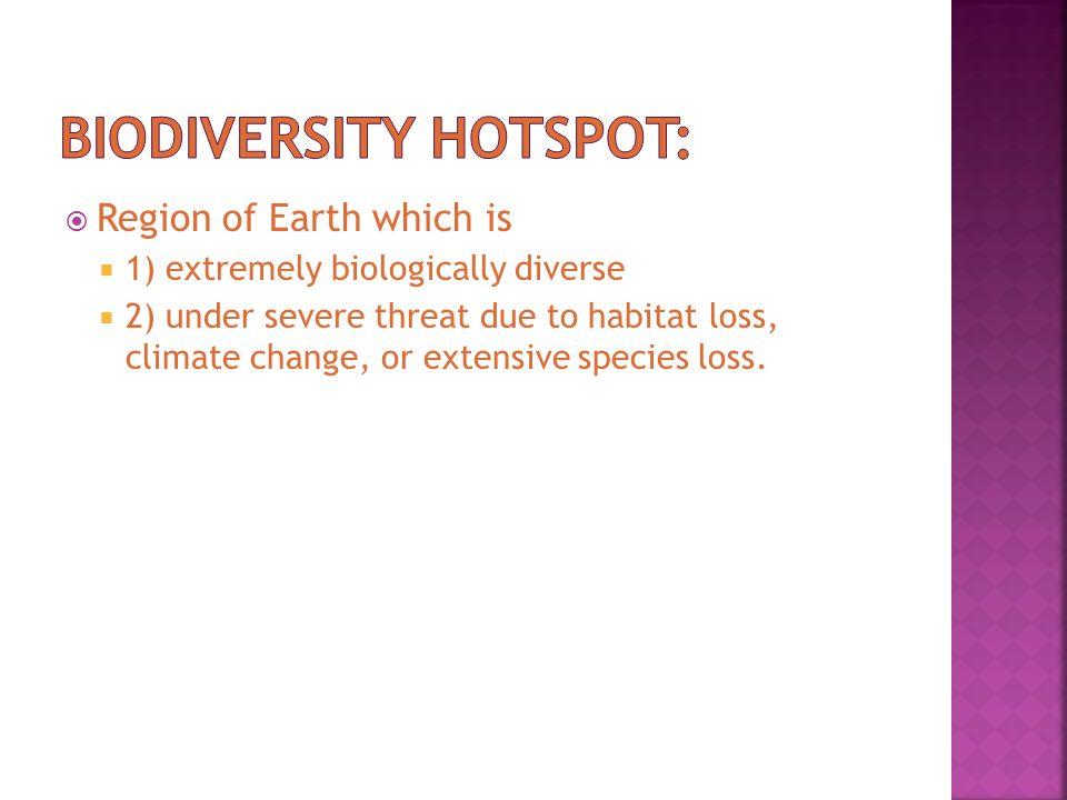 Biodiversity hotspot: