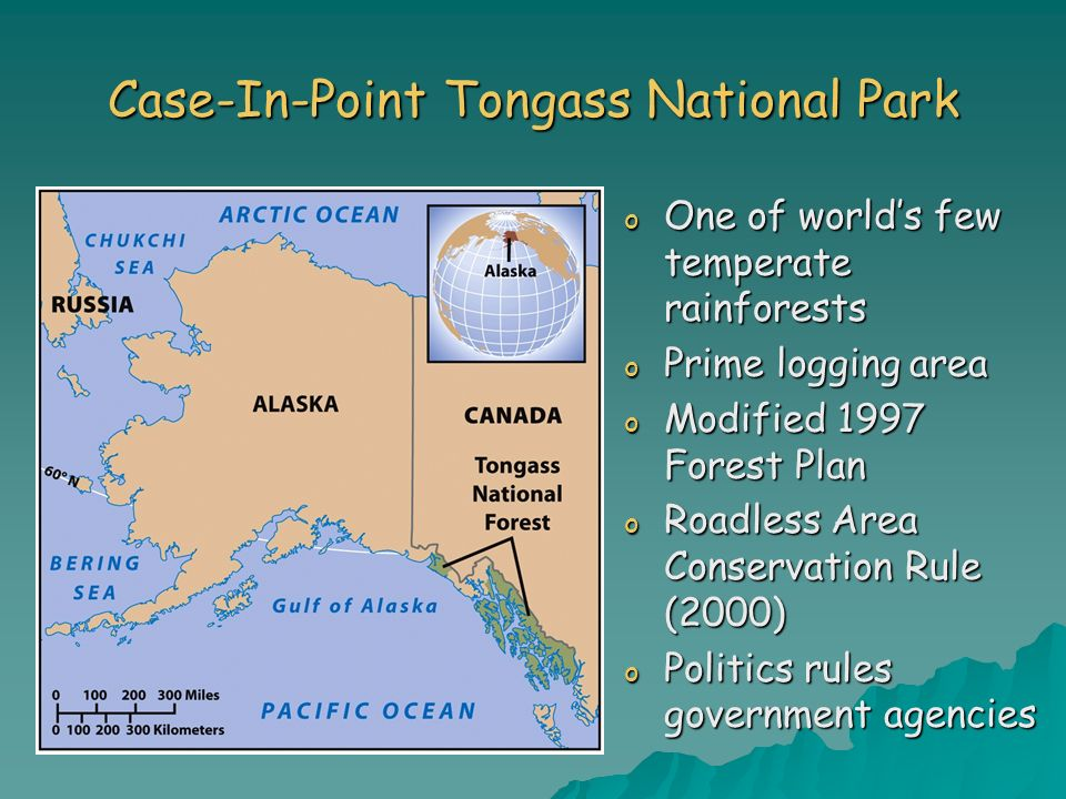 Case-In-Point Tongass National Park