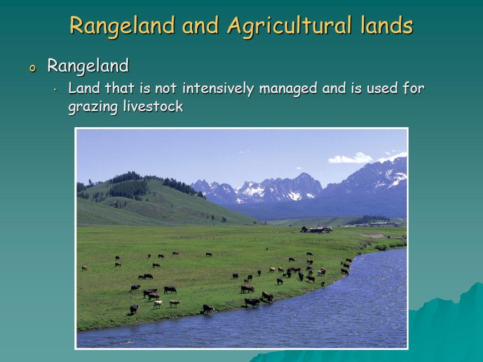 Rangeland and Agricultural lands