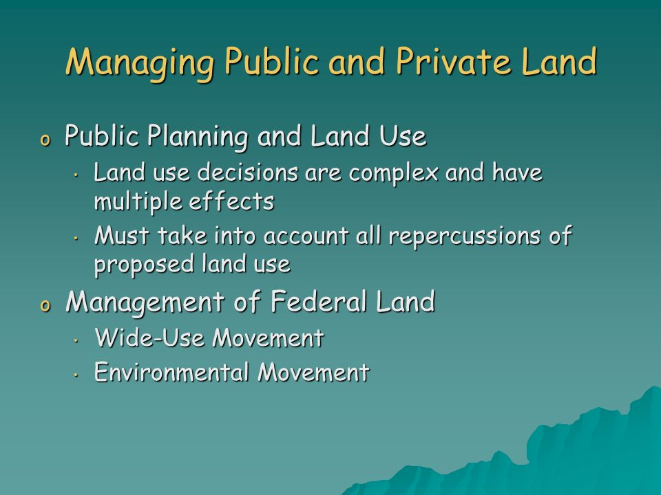 Managing Public and Private Land
