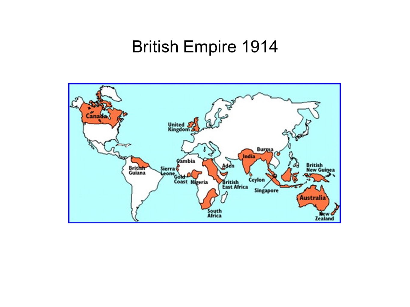 British Empire 1914