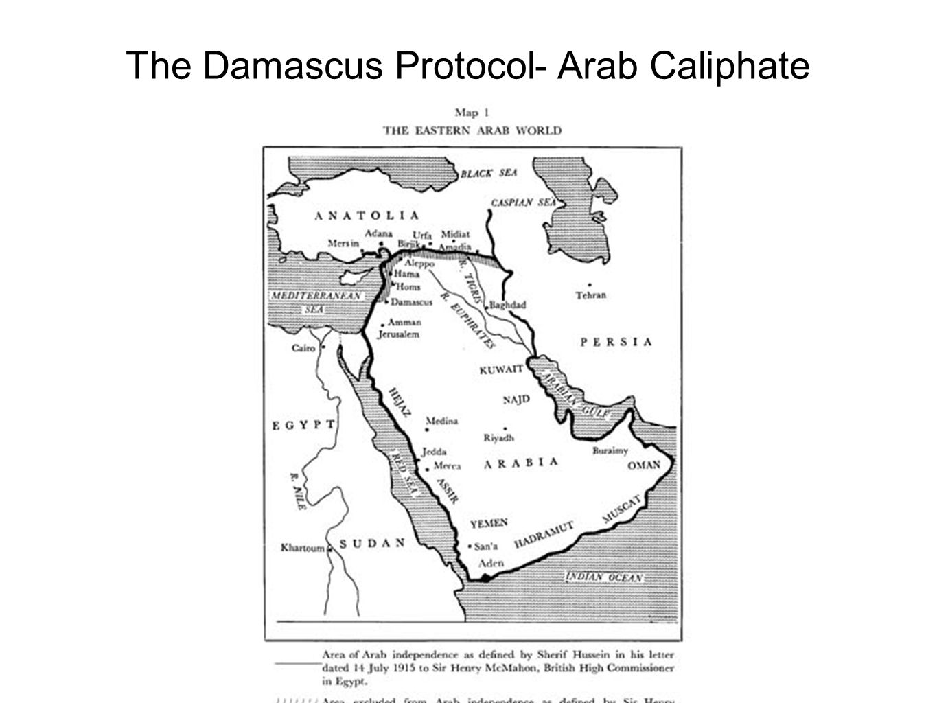 The Damascus Protocol- Arab Caliphate