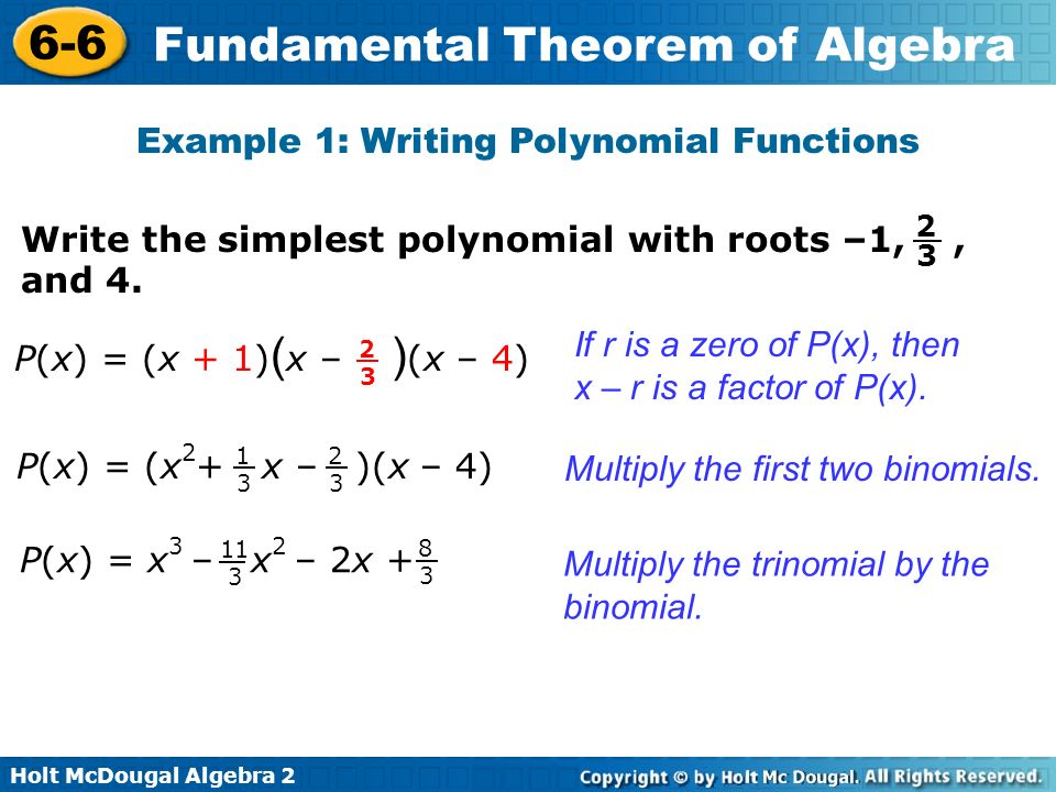 Example 1: Writing Polynomial Functions