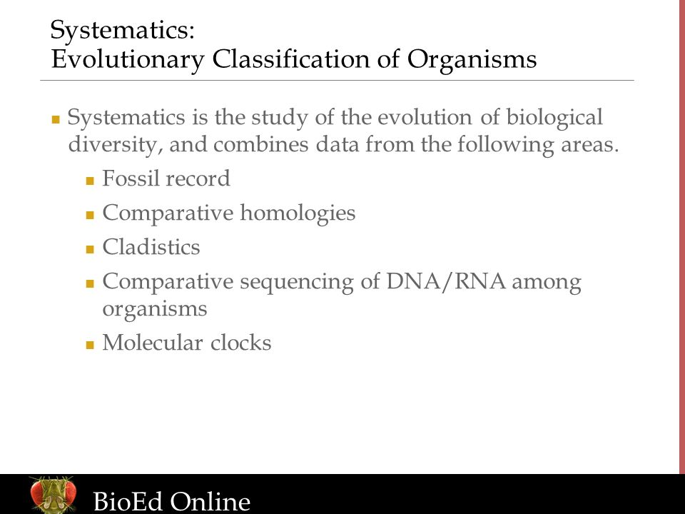 Systematics: Evolutionary Classification of Organisms
