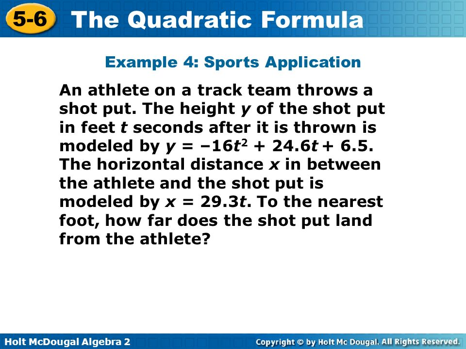 Example 4: Sports Application