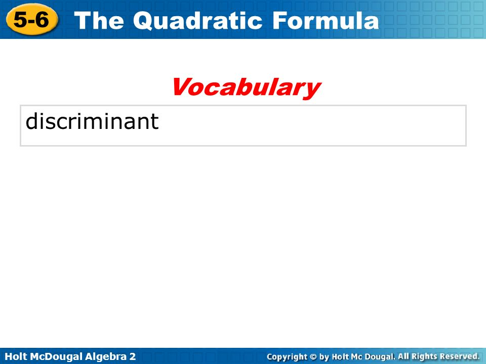 Vocabulary discriminant