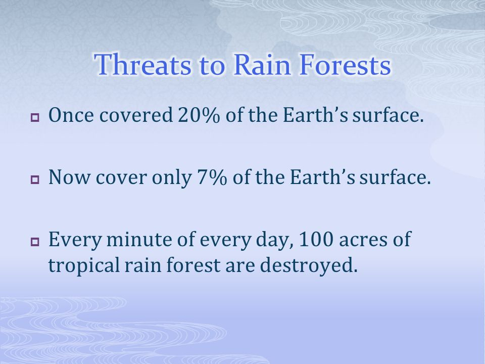 Threats to Rain Forests