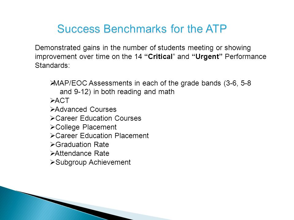 Success Benchmarks for the ATP