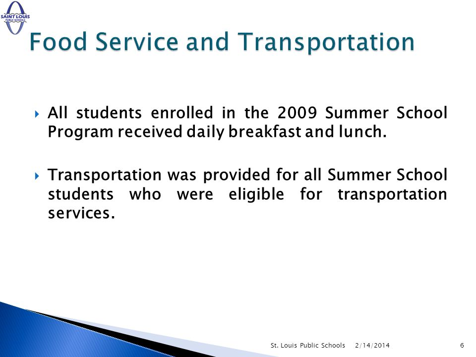 Food Service and Transportation