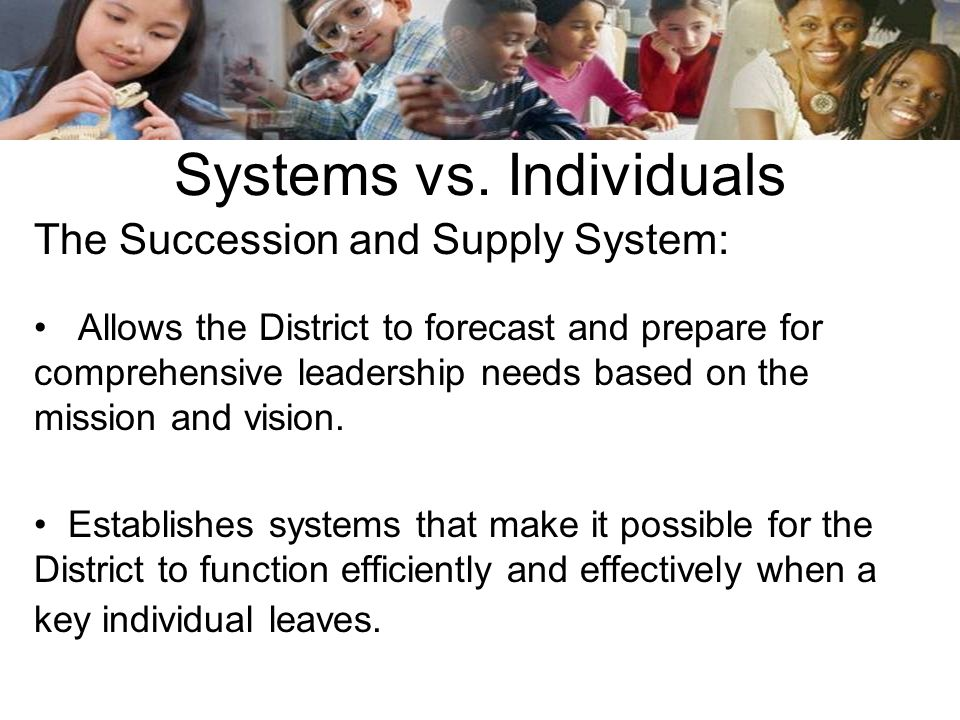 Systems vs. Individuals
