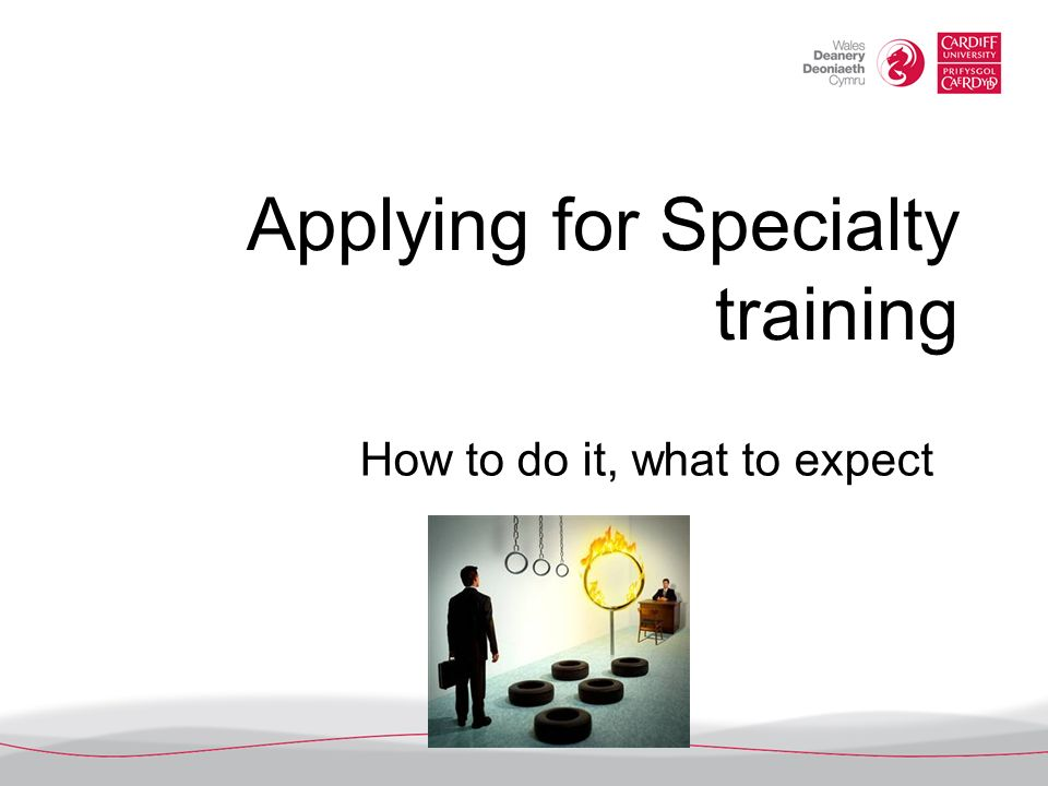Applying for Specialty training