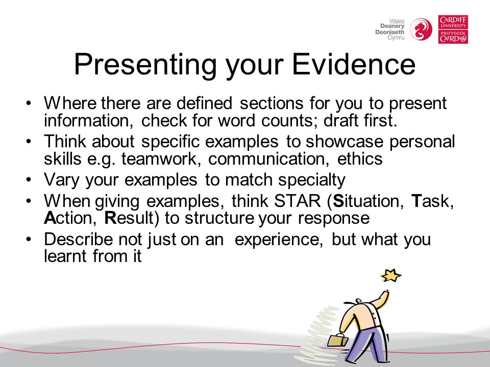 Presenting your Evidence