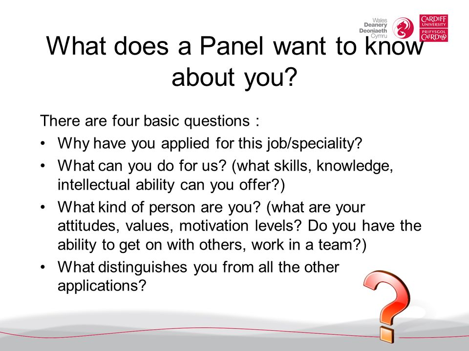 what does a panel want to know about you - Why Have You Applied For This Job