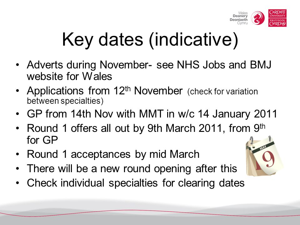Key dates (indicative)