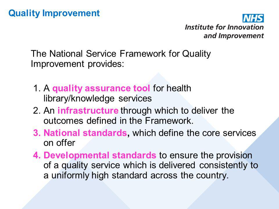 A quality assurance tool for health library/knowledge services