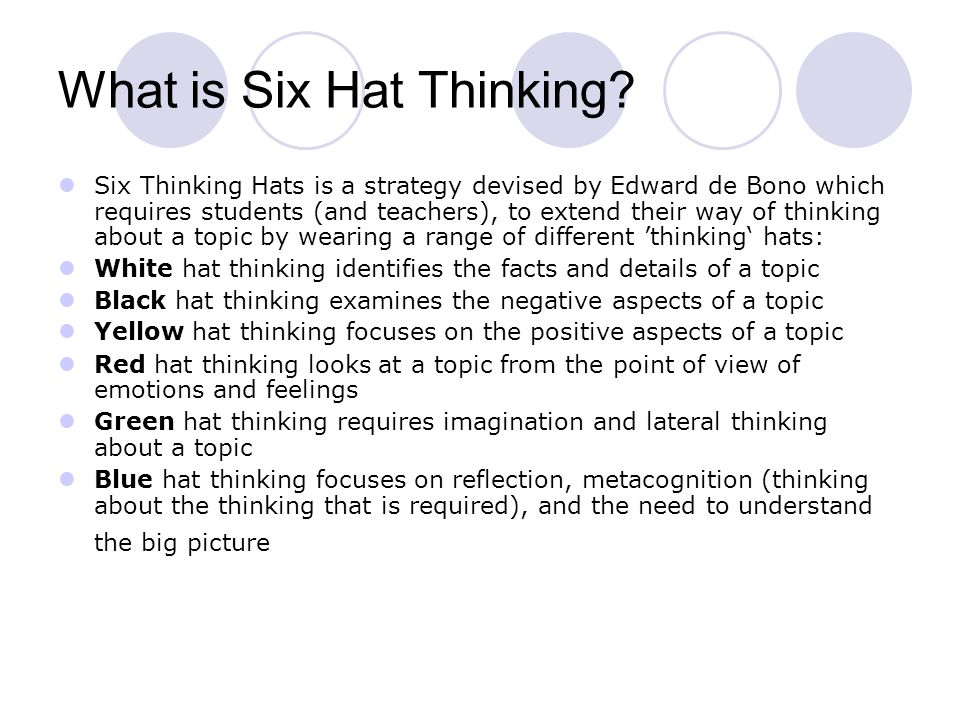 What is Six Hat Thinking