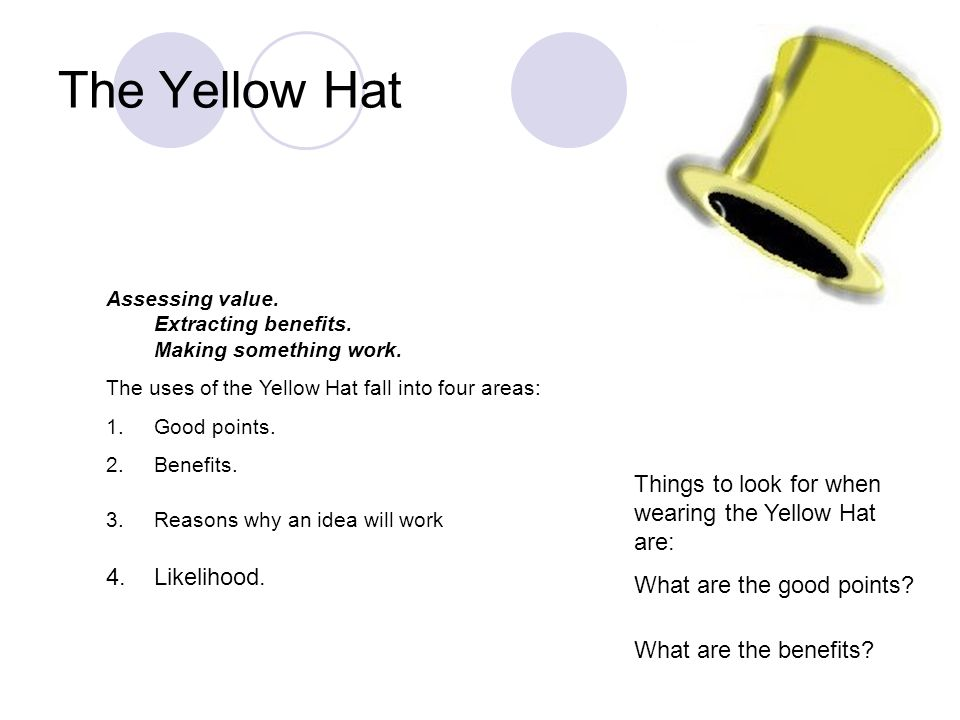The Yellow Hat Likelihood.