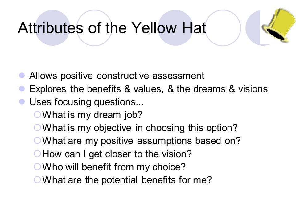 Attributes of the Yellow Hat