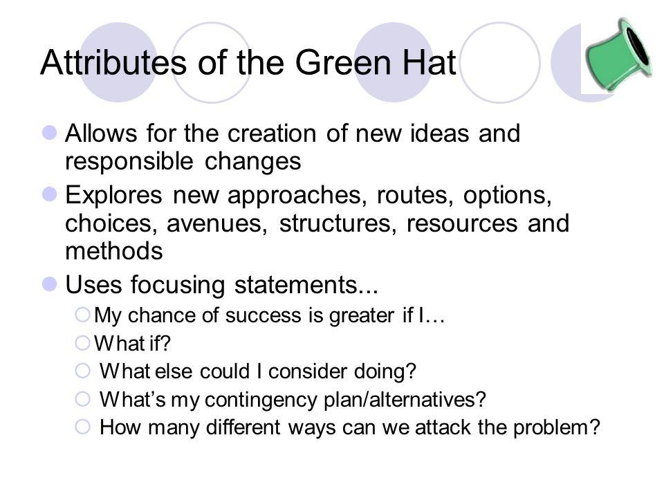 Attributes of the Green Hat