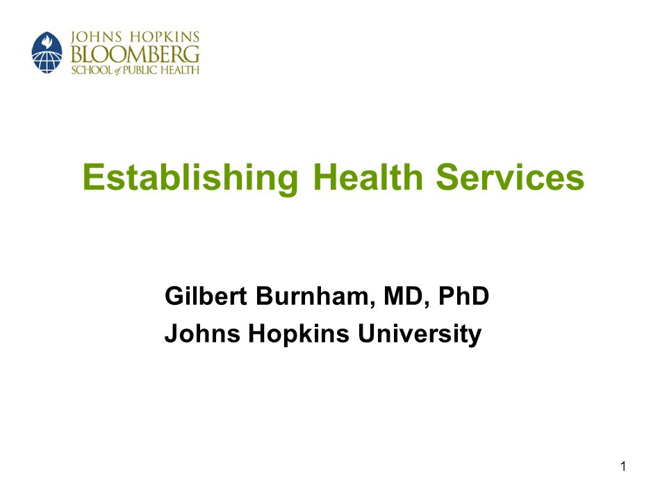 Establishing Health Services