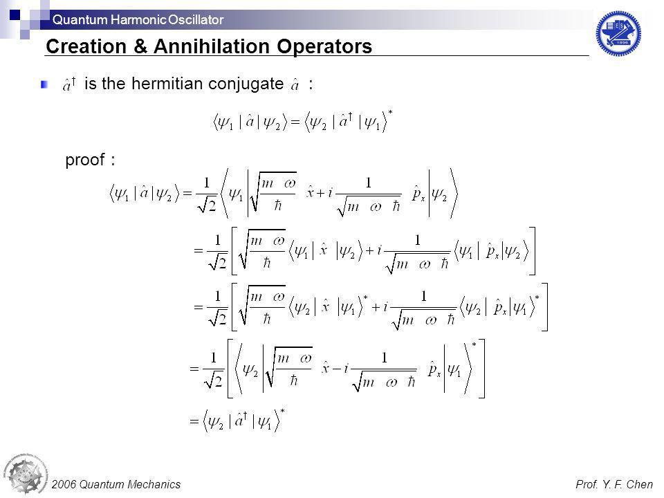Creation & Annihilation Operators