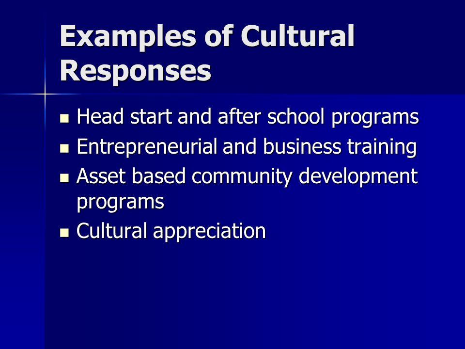 Examples of Cultural Responses