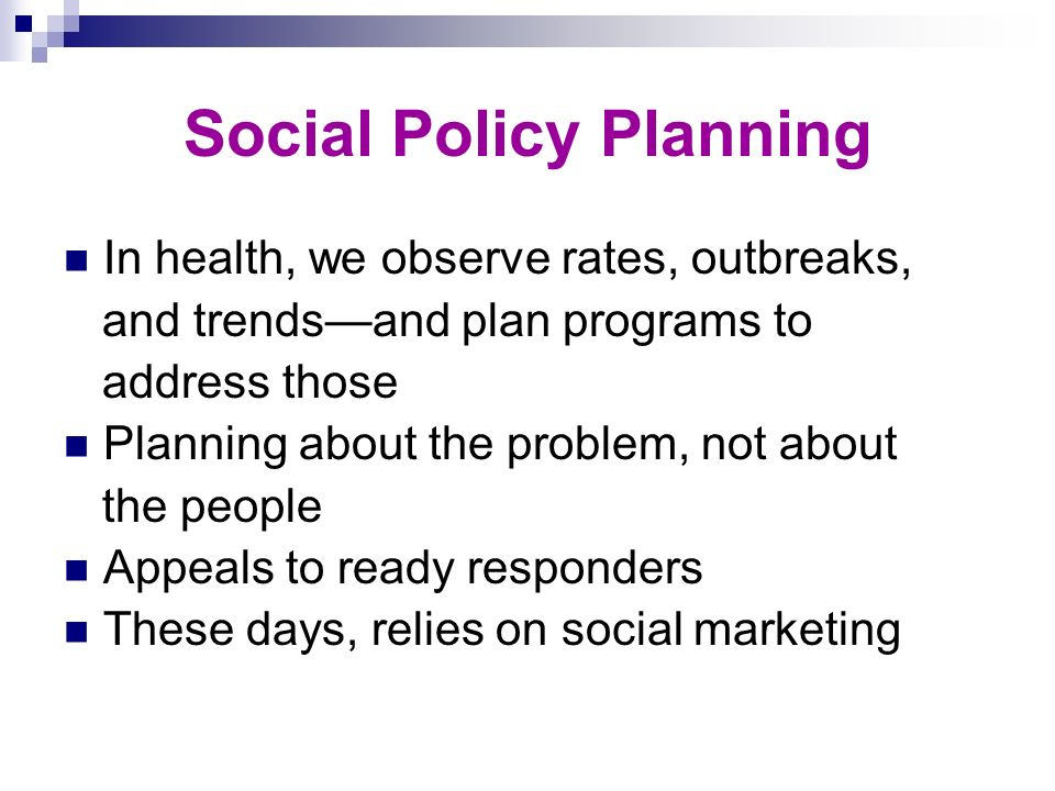 Social Policy Planning