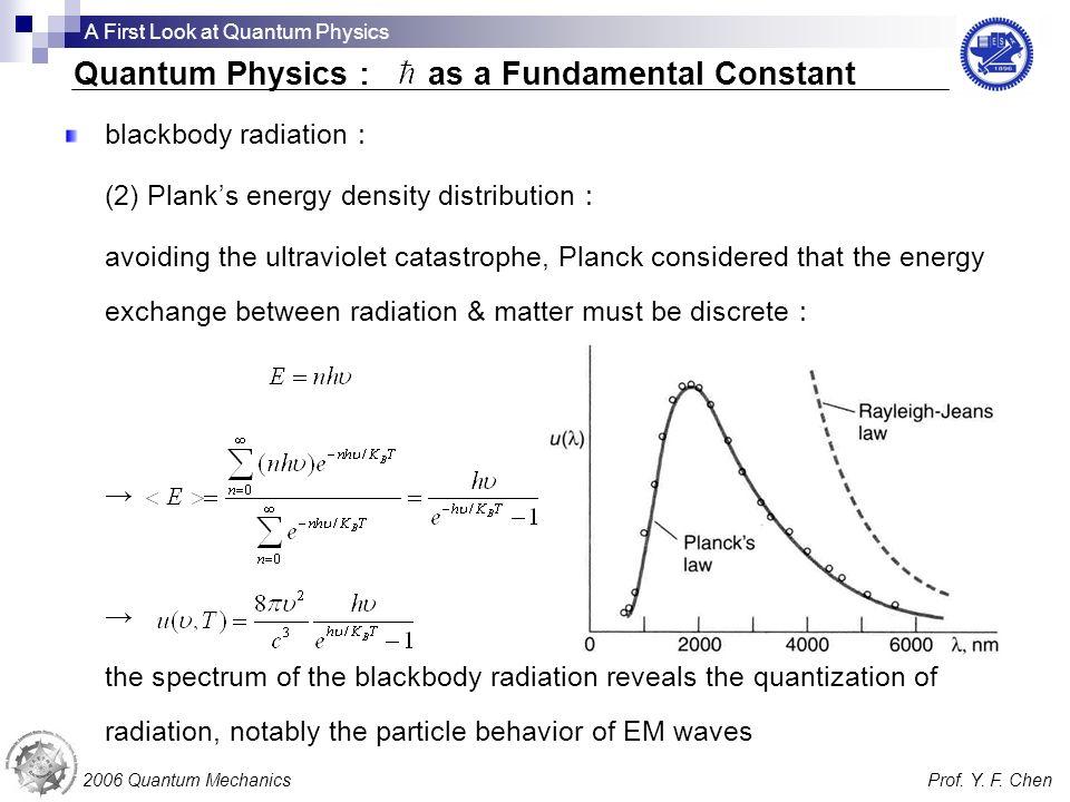 Quantum Physics: as a Fundamental Constant