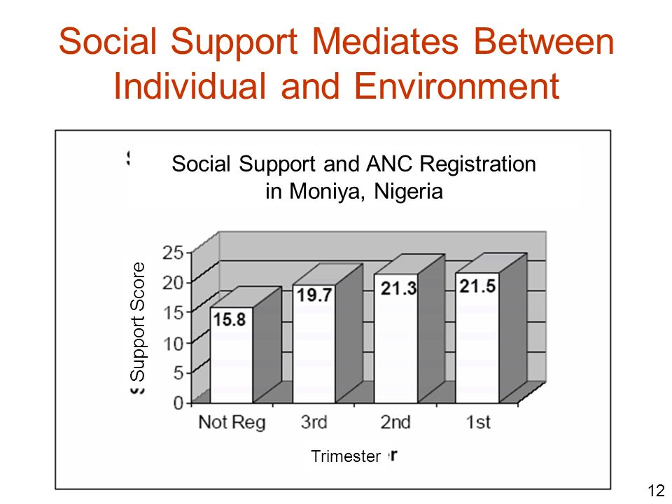 Social Support Mediates Between Individual and Environment