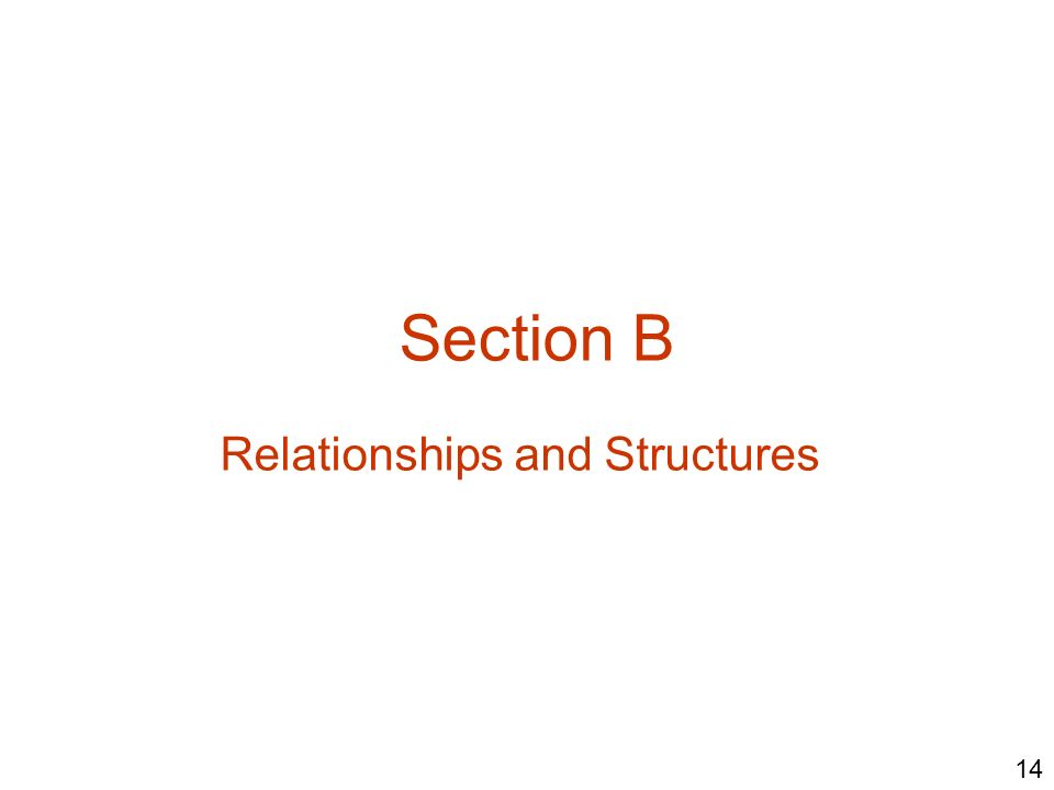 Relationships and Structures
